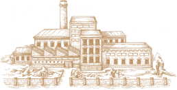 Illustration of an old factory building